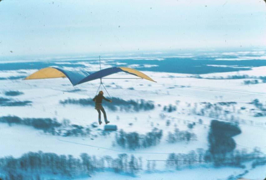 Stewart Midwinter's first flights