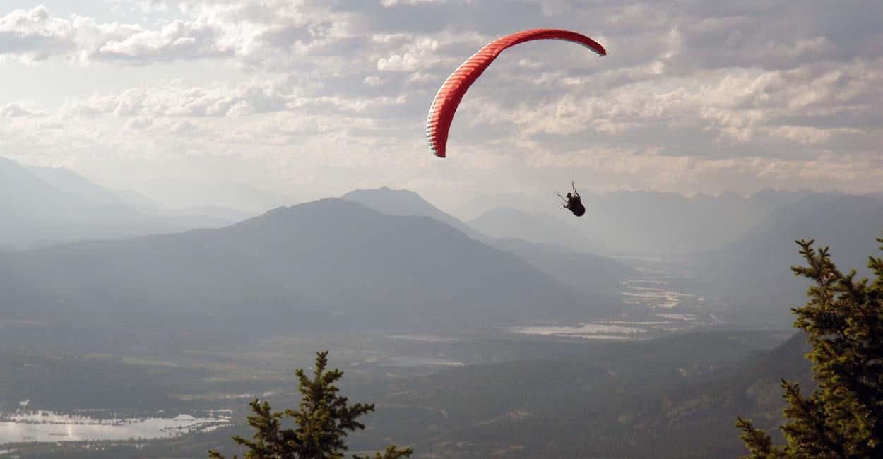 Stewart paragliding in Canada