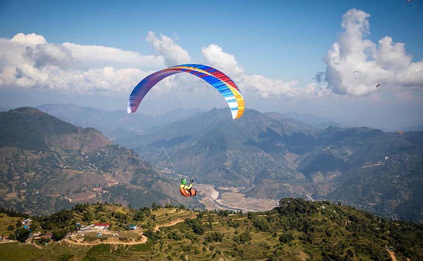 Ant Green at the 2017 Nepal Paragliding Open. Photo: Marcus King