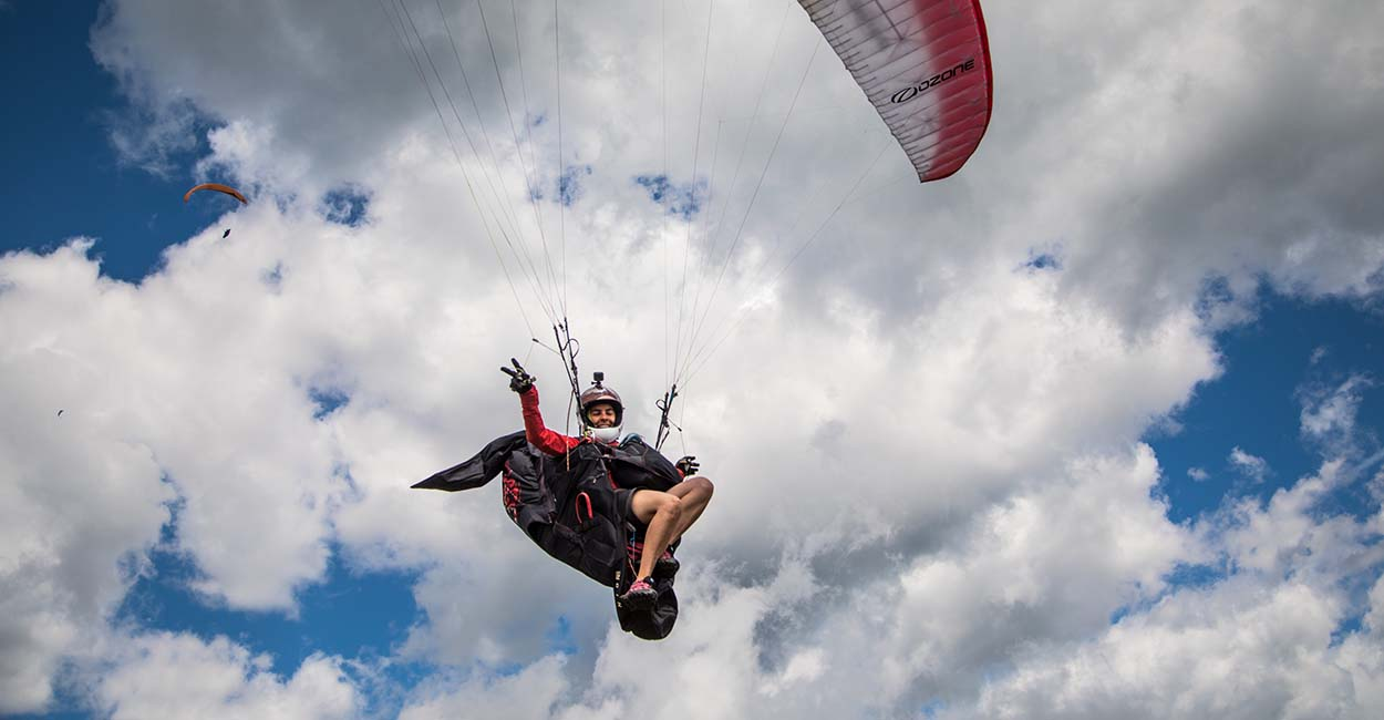Joanna Di Grigoli at the 2017 Paragliding World Championships in Italy