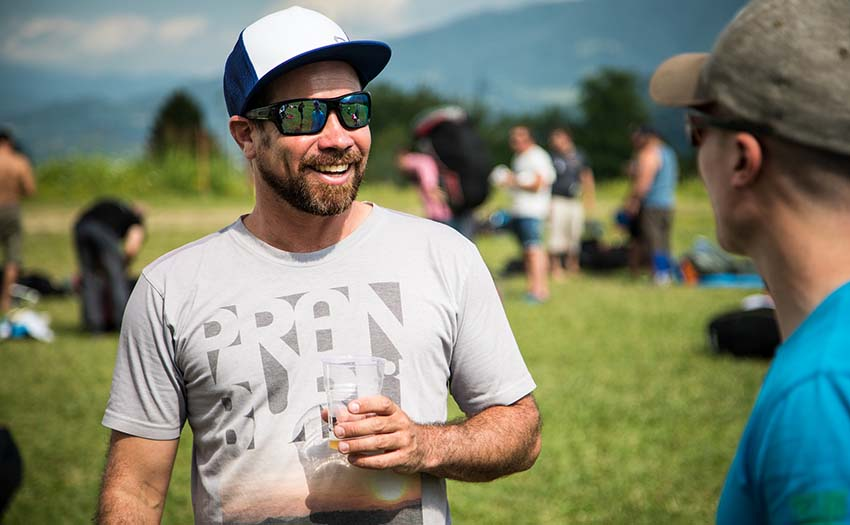 Having a beer after reaching goal. Photo: Marcus King