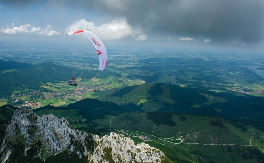 Paragliding during the Red Bull X-Alps 2017, by Felix Woelk