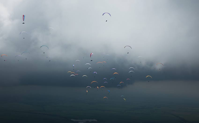 Stormy weather at the Paragliding World Cup Superfinal in Colombia, January 2018