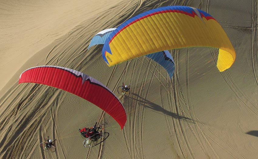 Paramotoring at the Imperial Dunes in Southern California, by Jeff Hamann
