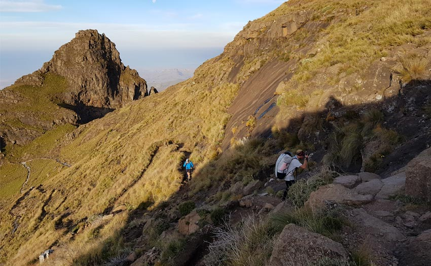 Onwards and upwards through the beautiful Drakensberg. Photo: Jeremy Holdcroft
