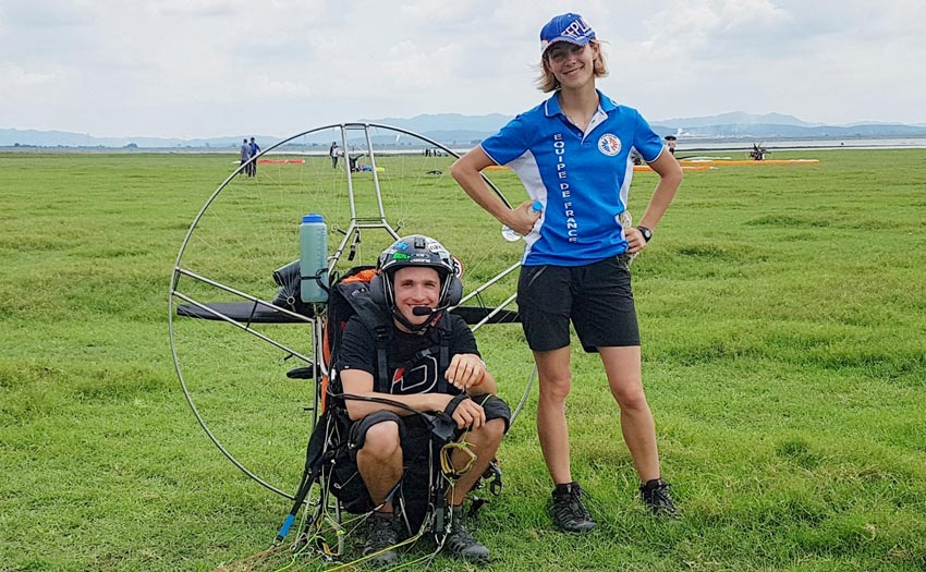 Paramotor World Champions 2018: Alex and Marie Mateos