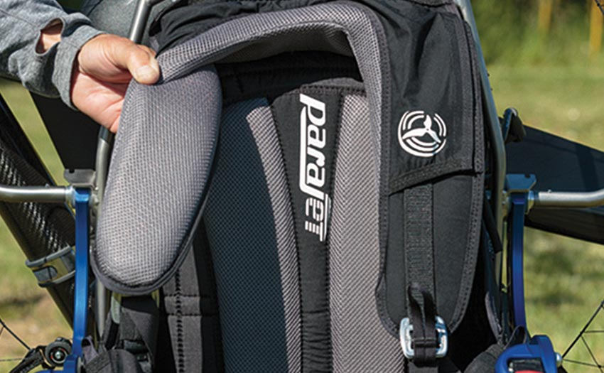 Parajet Maverick review: padded harness straps