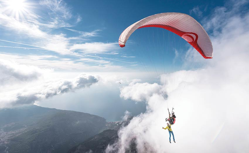 Paragliding above Olu deniz, Turkey, with Tristan Shu