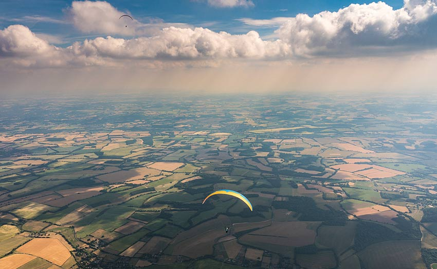 Paragliding Combe Gibbet by Harry Bloxham