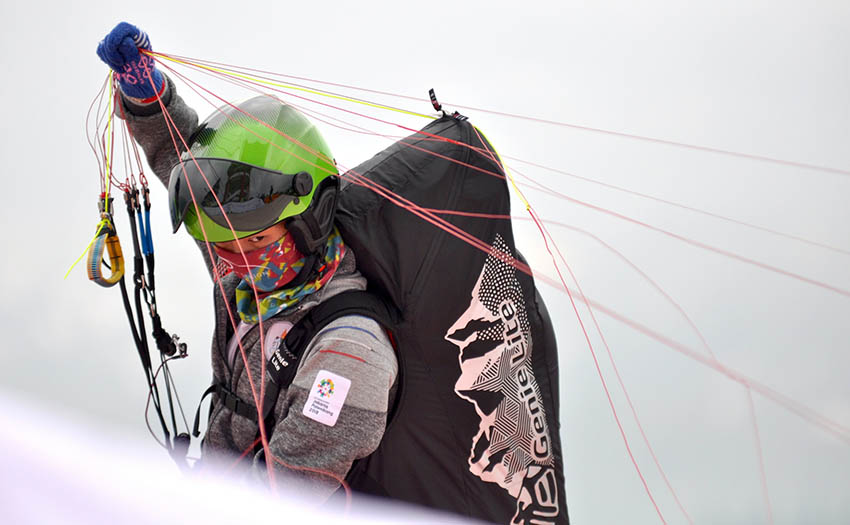 A pilot at the Asian Games. Photo: FAI / Brooke Whatnall