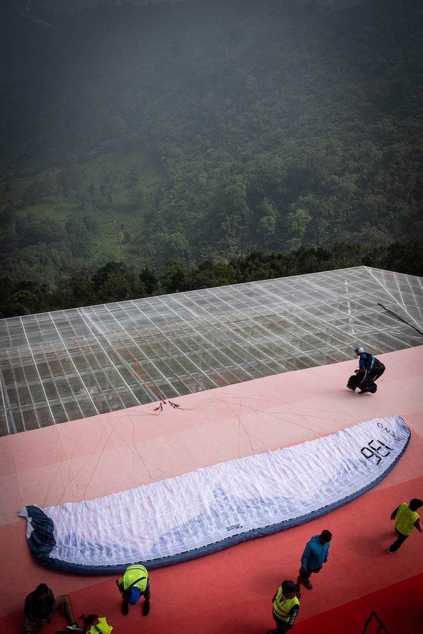 The new paragliding launch in Puncak. Photo: FAI / Brooke Whatnall