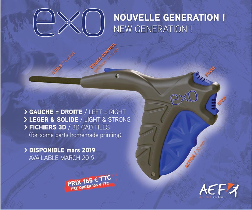 AEF paramotor throttle