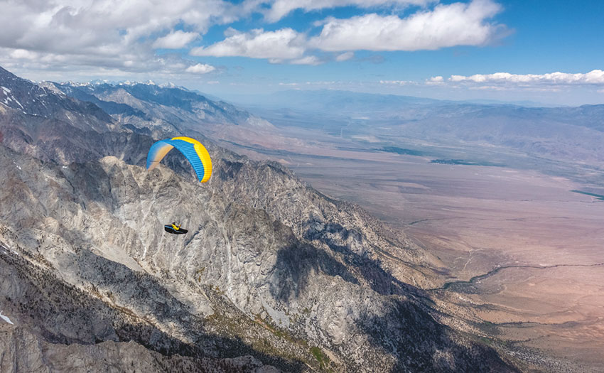 Paragliding in the Owens Valley. Photo: Cody Tuttle