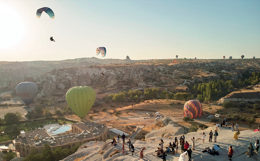 Paramotoring in Cappadocia, Turkey, by John Stapels