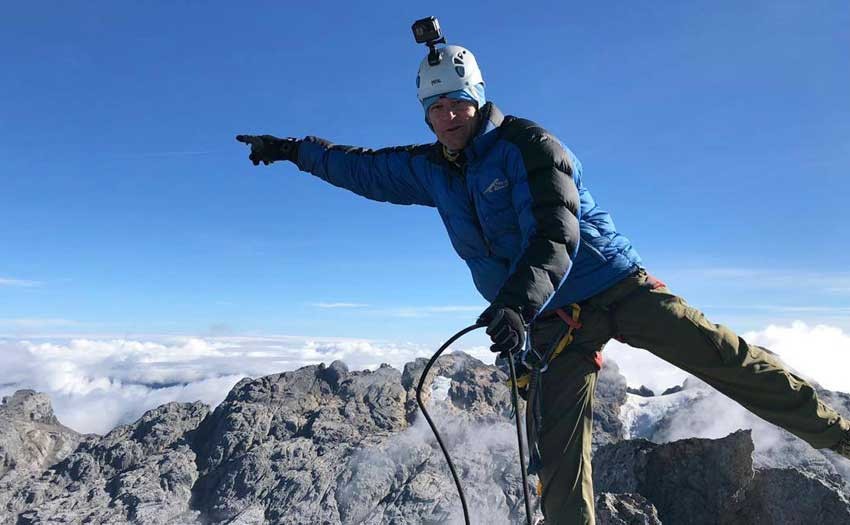 Carstenz Pyramid –Pierre Carter on the summit