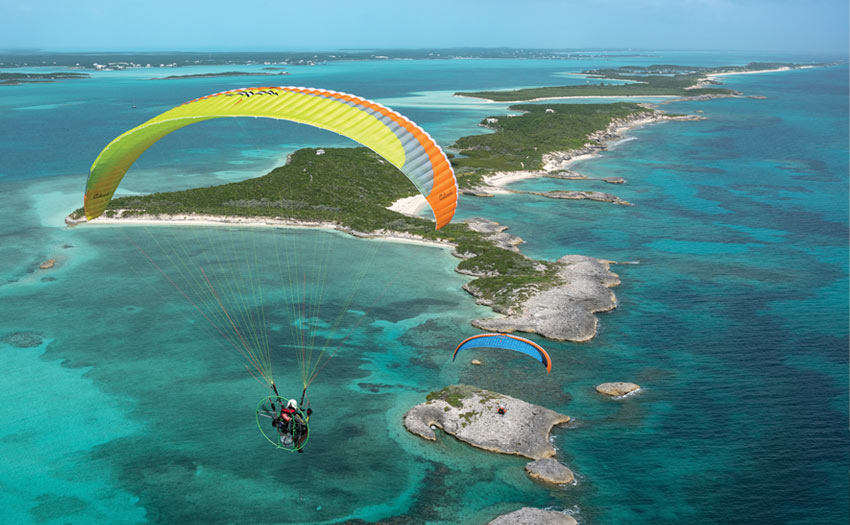 Powered Paragliding in the Bahamas