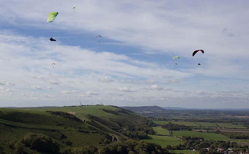 Ridge soaring in a good wind
