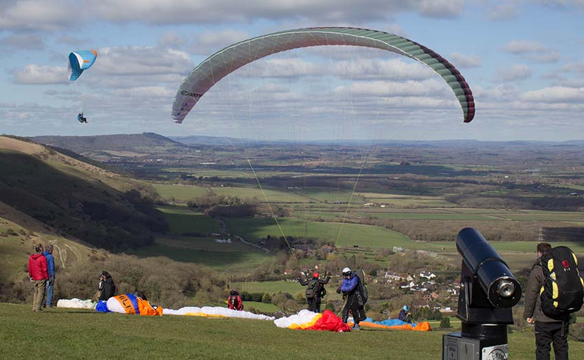 A soarable day for paragliding