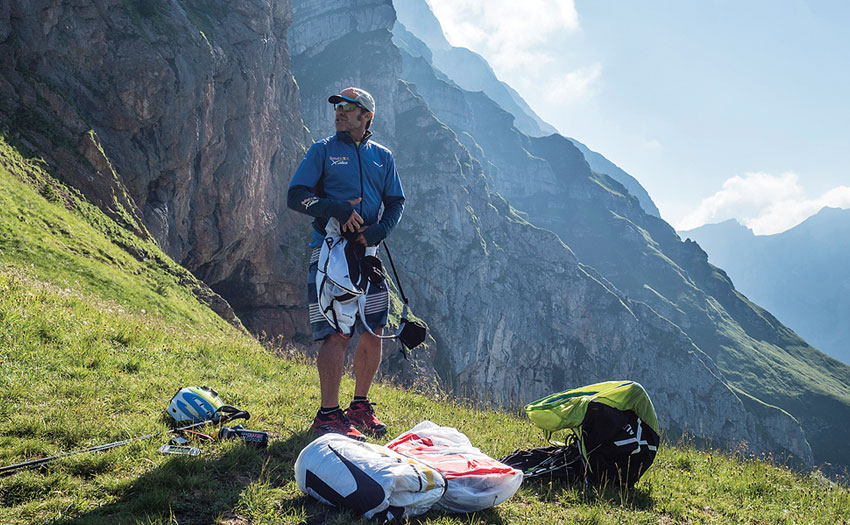 Gavin McClurg during the Red Bull X-Alps 2017. Photo: Red Bull Content Pool
