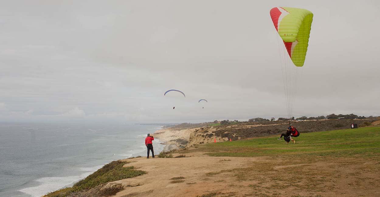 A file photo showing the launch area at Torrey Pines, San Diego, California. Photo: Ed Ewing