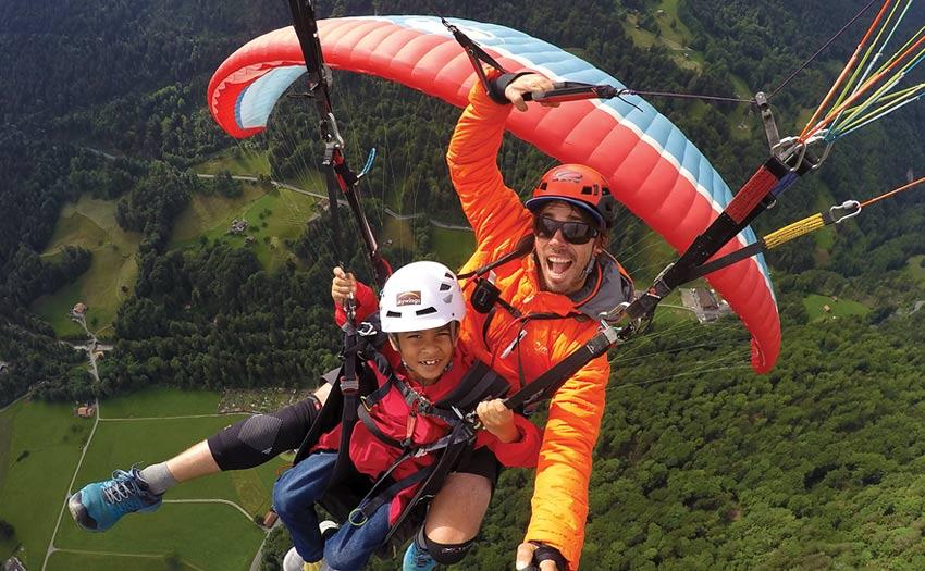 Haydon Gray tandem paragliding