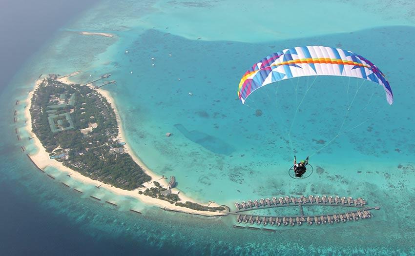 Paramotoring the Maldives