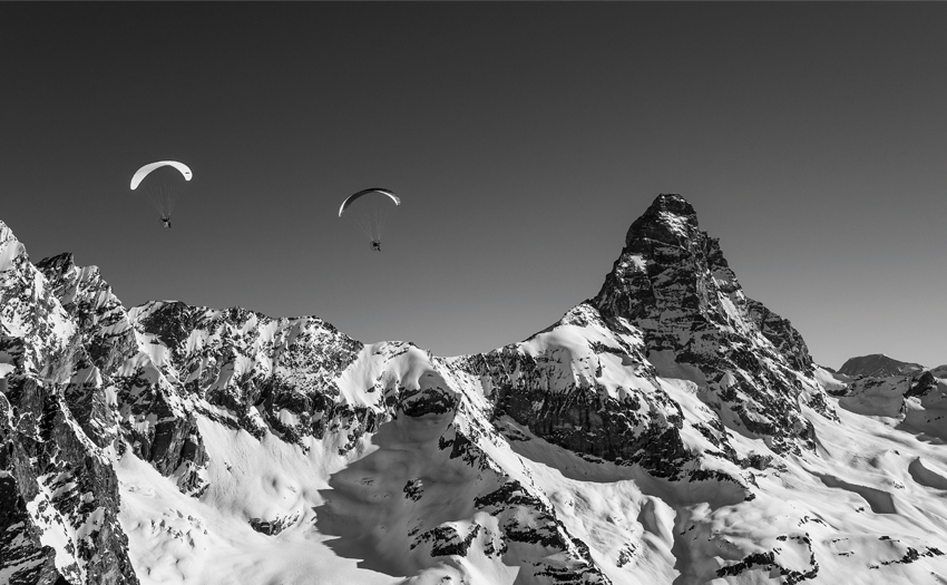 Paramotoring the Matterhorn
