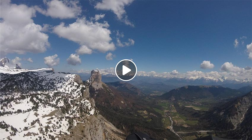 Yael Margelisch 264km triangle flight video
