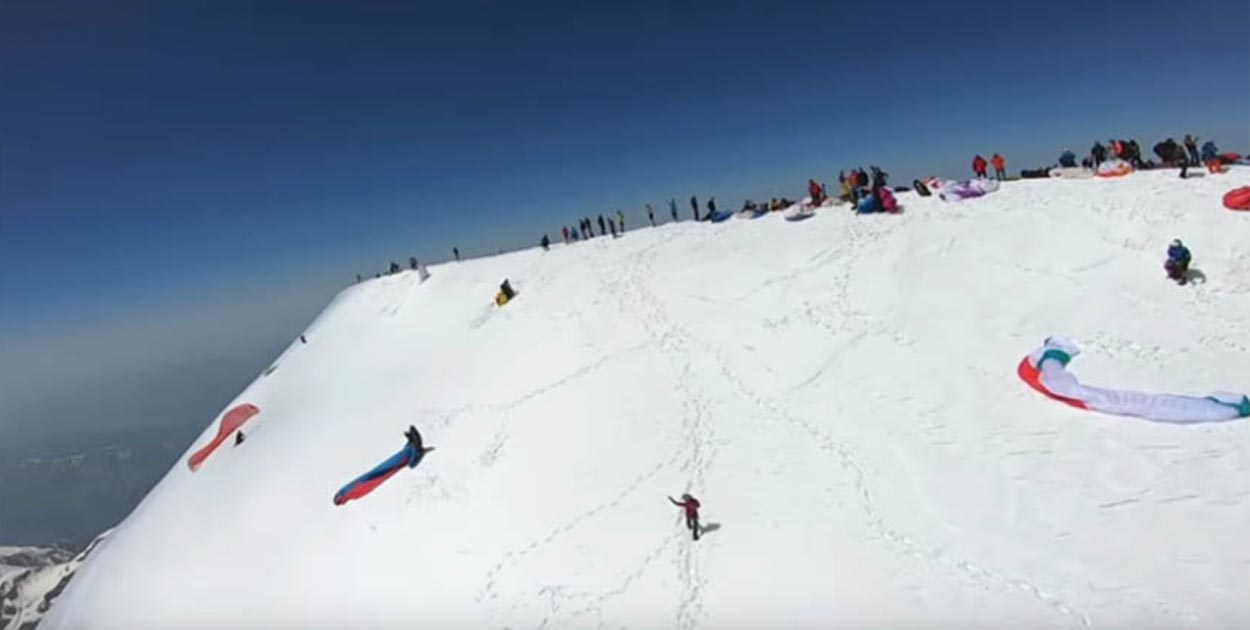 Mont Blanc top-landings