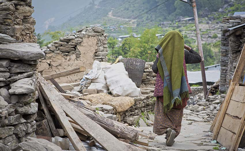 Earthquake damage in Nepal. Photo: Cody Tuttle