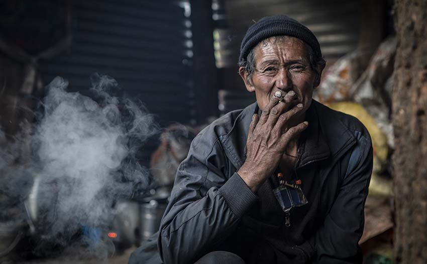 Portrait of a Nepalese man. Photo: Cody Tuttle