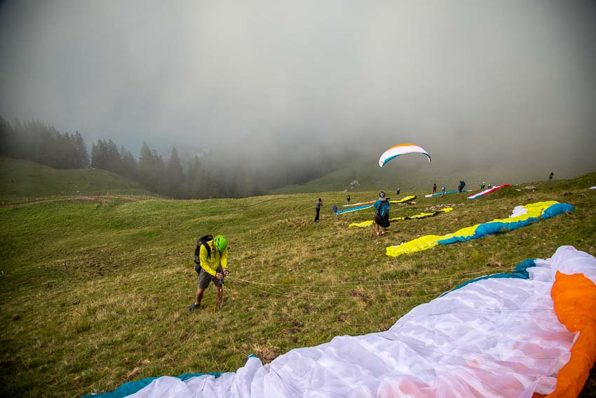 The Advance Red Bull X-Alps fly-in, September 2019. Photo: Marcus King