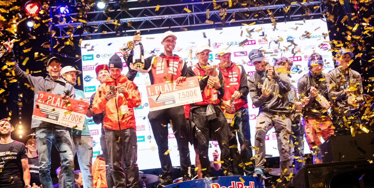 Red Bull Dolomitenmann 2019 podium