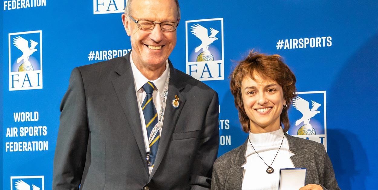 Sasha Serebrennikova FAI award