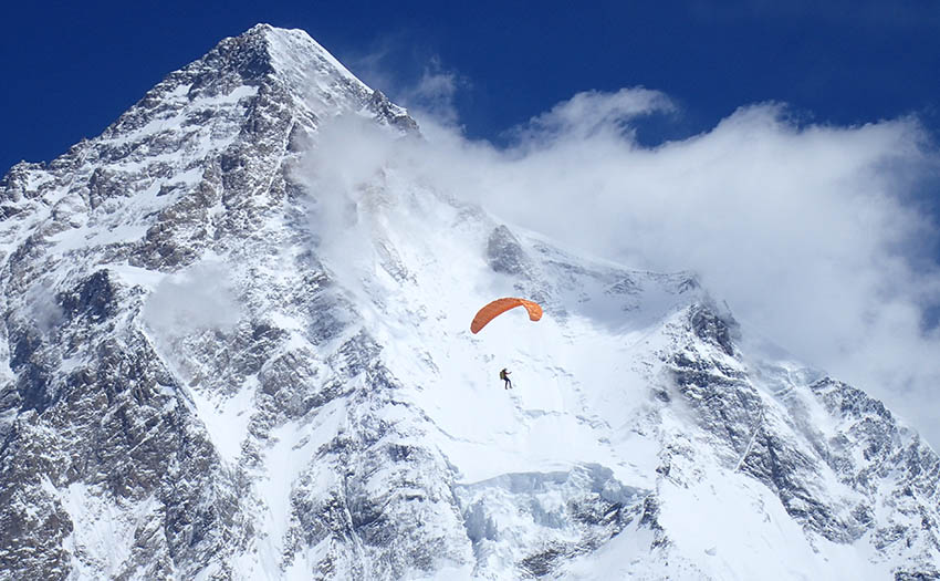 Max Berger in front of K2