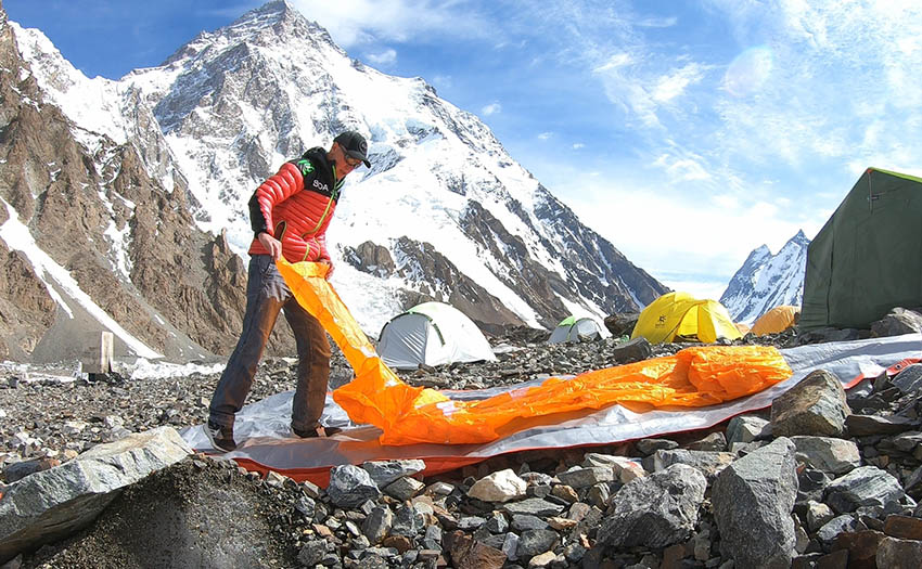 Packing up at K2 base camp. Photo: Max Berger collection