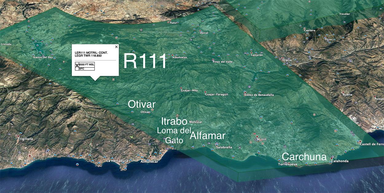 R111-Airspace-Almiunecar