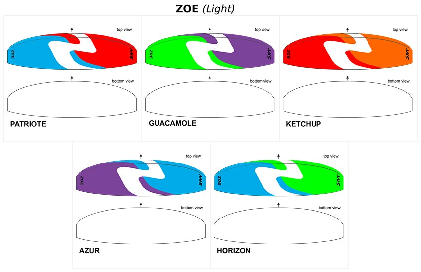 Zoe lightweight colours