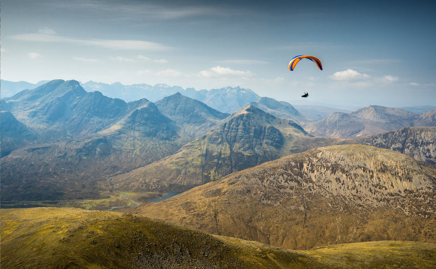 Paragliding in Skye. Photo: Kieran Campbell