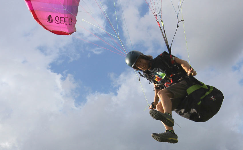 How to flap a paraglider. Photo: Ant Green