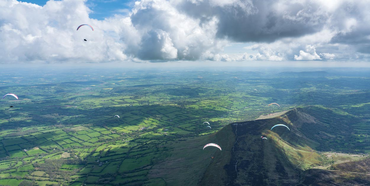 Paragliding in Wales