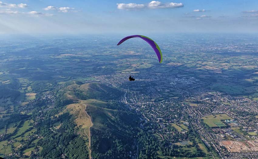 Flying England's Malvern Hills on 30 May 2020. Photo: Wayne Seeley