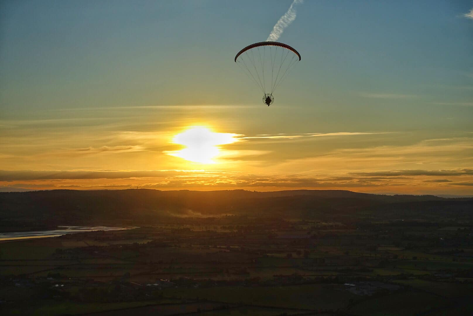 Sunset paramotoring on 30 May 2020. Photo: Wayne Seeley
