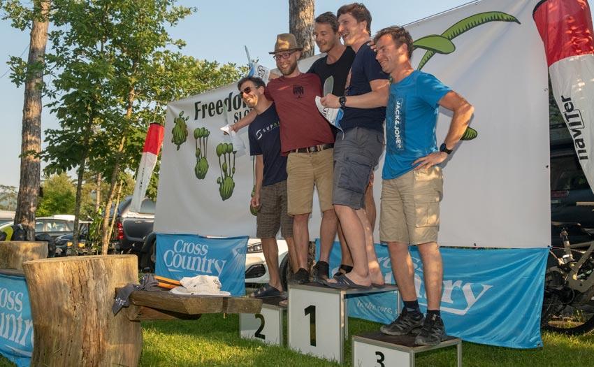 Sports class podium