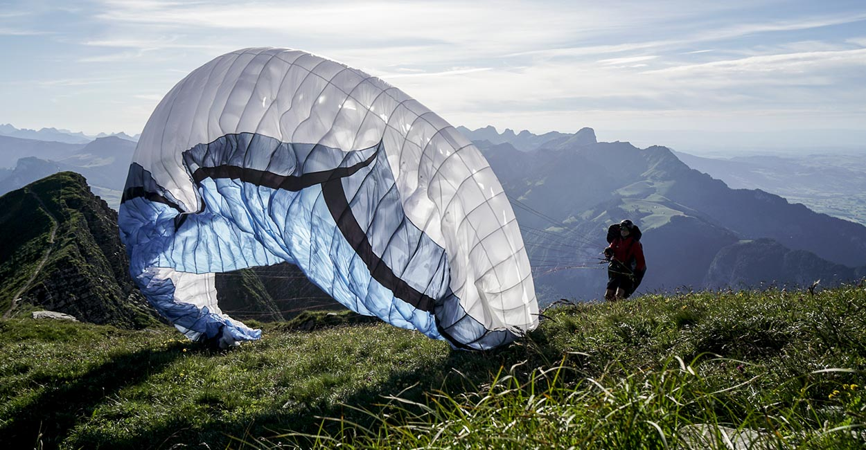 Launching during the Eigertour 2020. By Tobias Dimmler