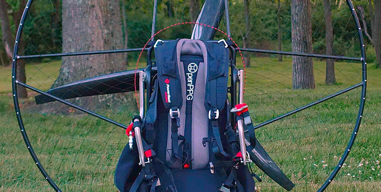Open PPG electric paramotor