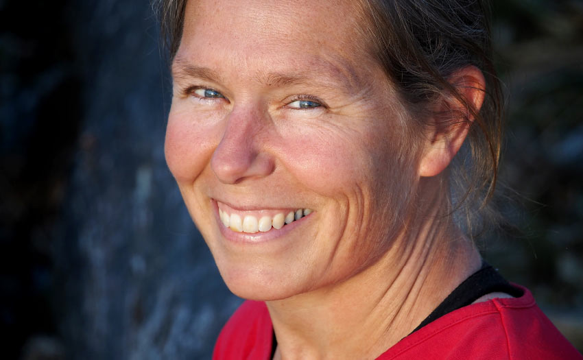 Bastienne Wentzel, author of Paragliding The Beginner's Guide. Photo: Erwin Voogt