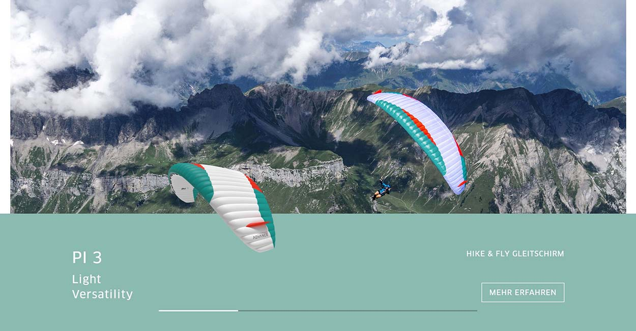 Advance Paragliders new website