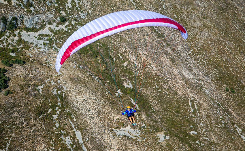 Gin Calypso (EN B) paraglider review. Photo: Marcus King