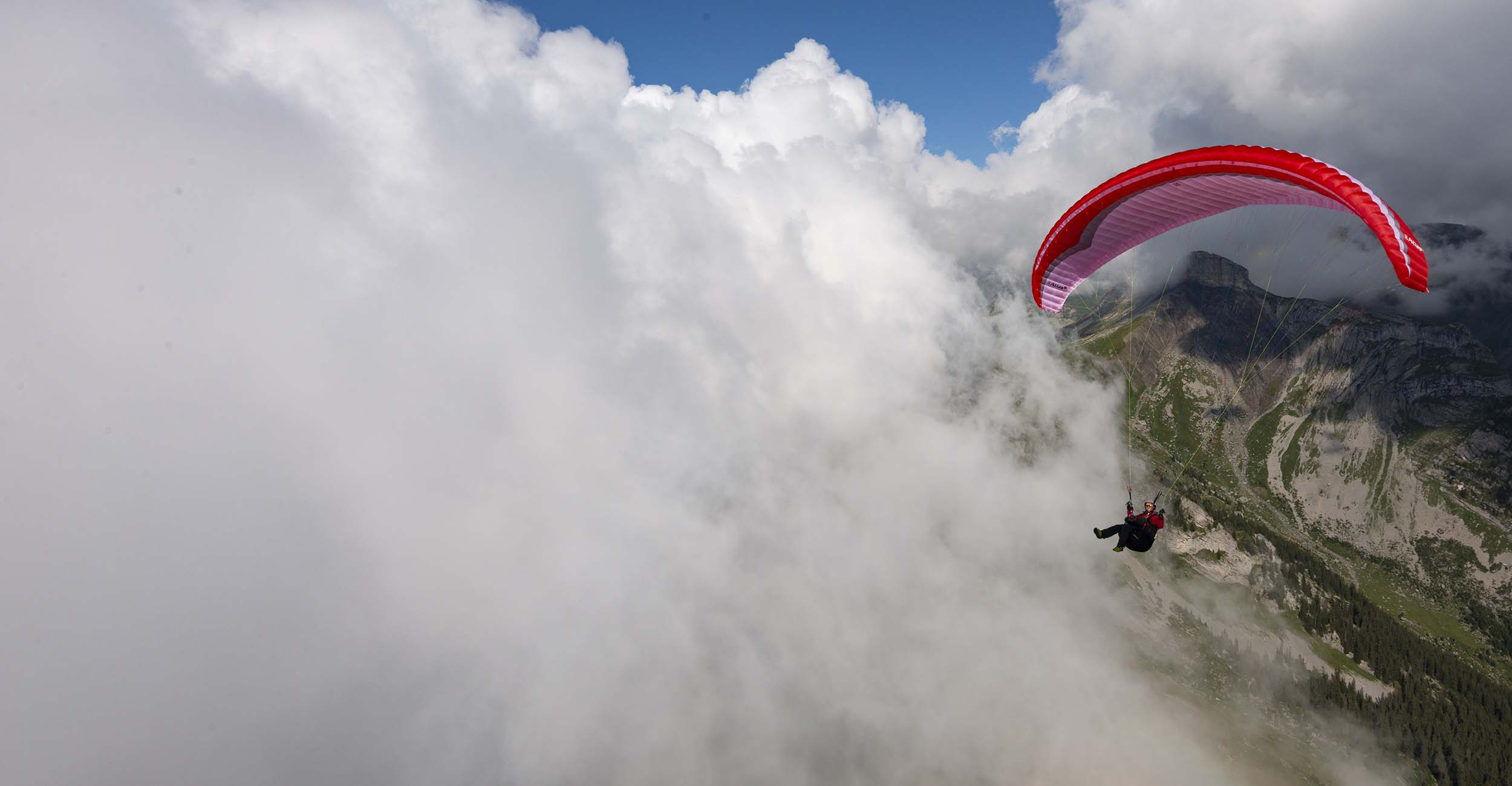 Getting up close and personal with the clouds. Photo: Jerome Maupoint